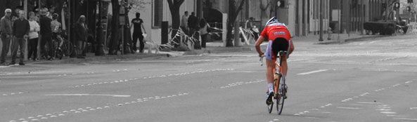 Red cyclist